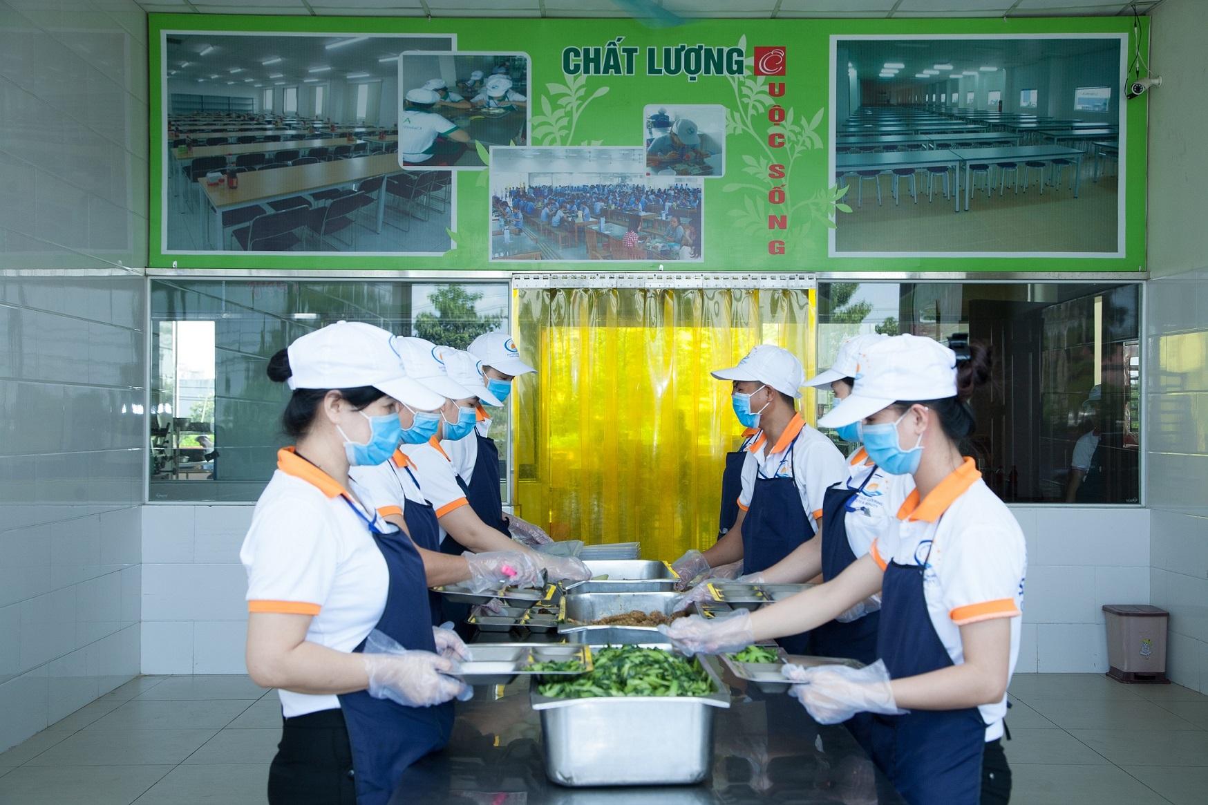 dịch vụ suất ăn công nghiệp