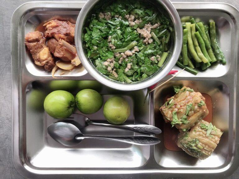 Suất ăn giàu dinh dưỡng và đảm bảo vệ sinh thực phẩm